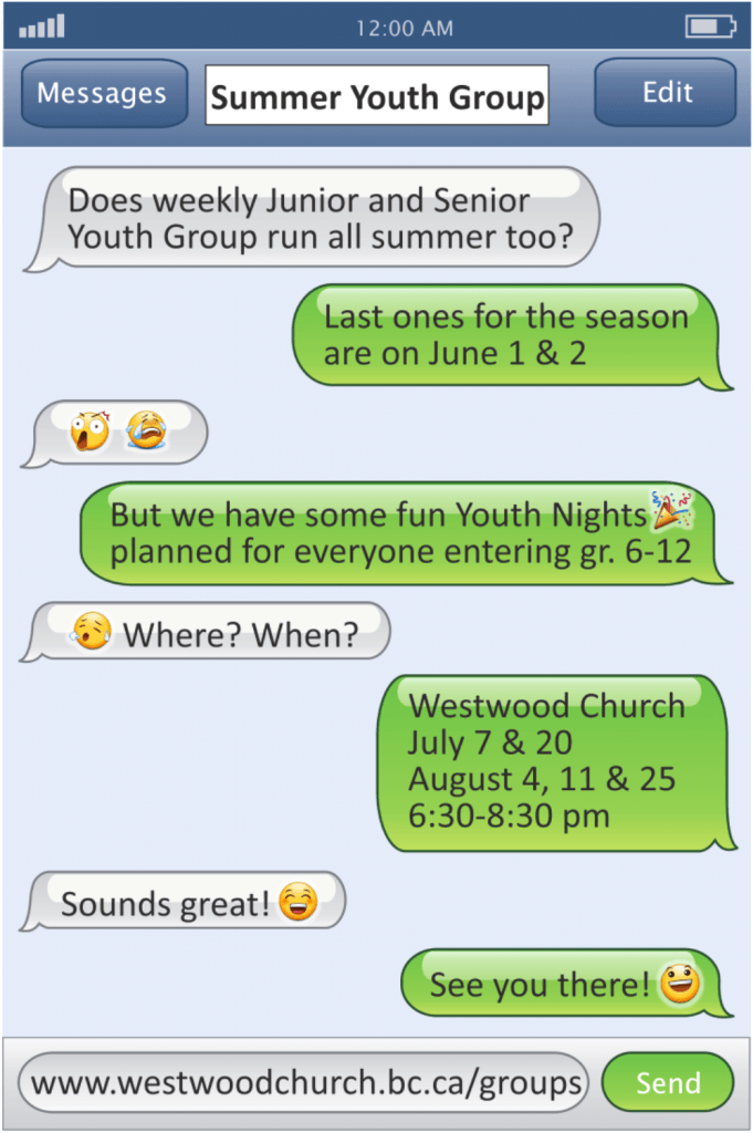 Youth Summer Dates